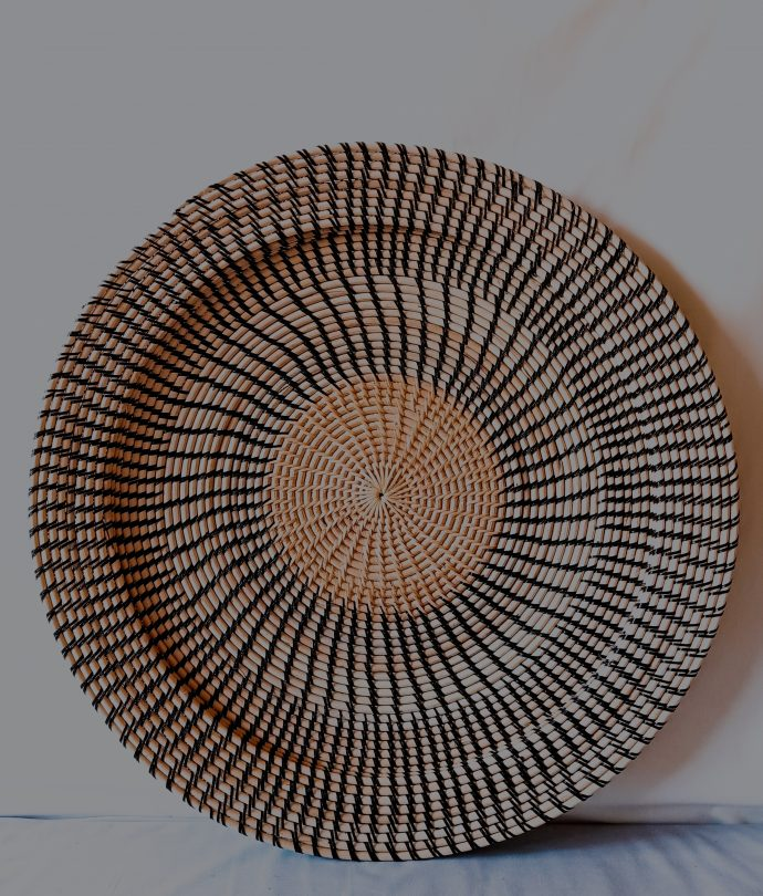 Single Rattan Wicker Plate Wall Decoration