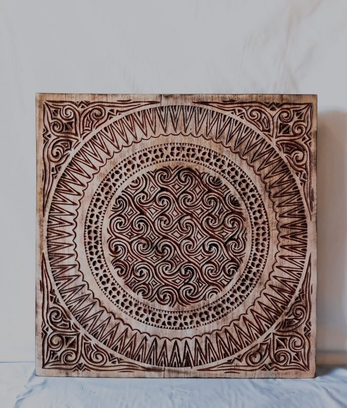 hand carved toraja panel