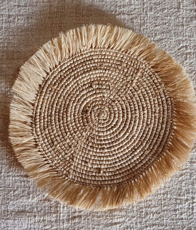 natural raffia placemat