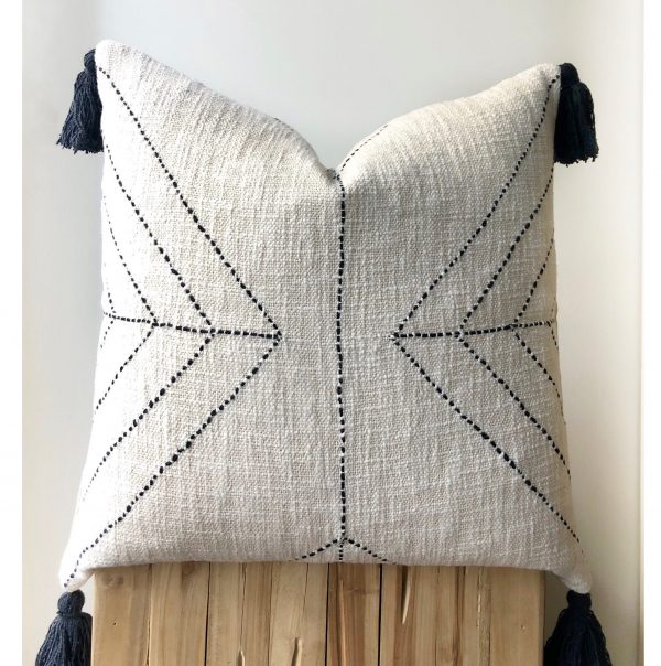 boho raw cotton pillow